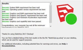 SketchUp2017检测-常见Error(错误)及处理方法
