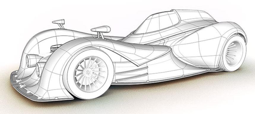 SketchUp草图大师SUbD参数细分创建汽车