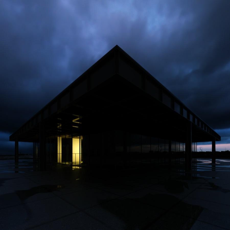 TheaRender西娅建筑雨景表现