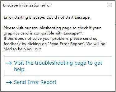 Enscape initialization error