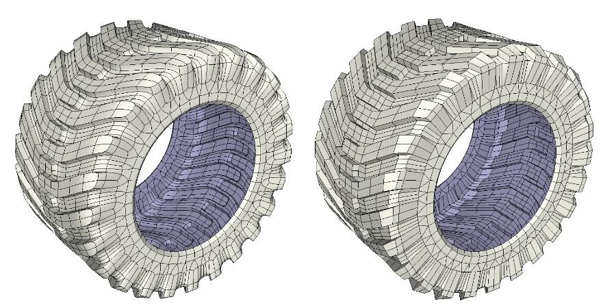 SketchUp&SUbD创建宽轮胎