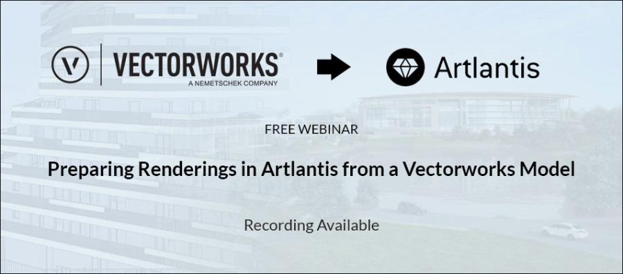 从Vectorworks模型准备Artlantis中的渲染