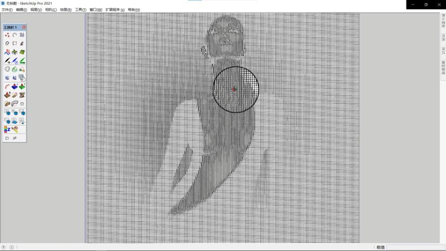 SketchUp草图大师创建图片干扰参数模型